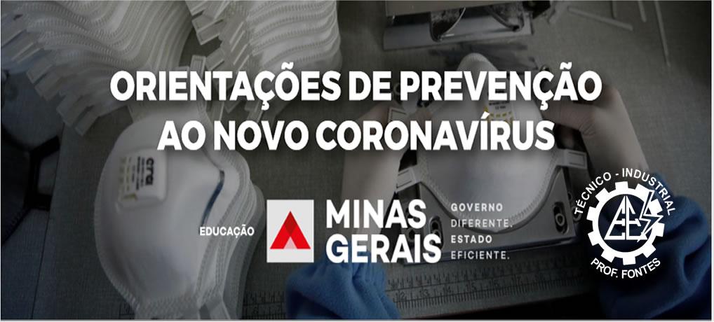 ORIENTAÇÕES DE PREVENÇÃO AO NOVO CORONAVÍRUS