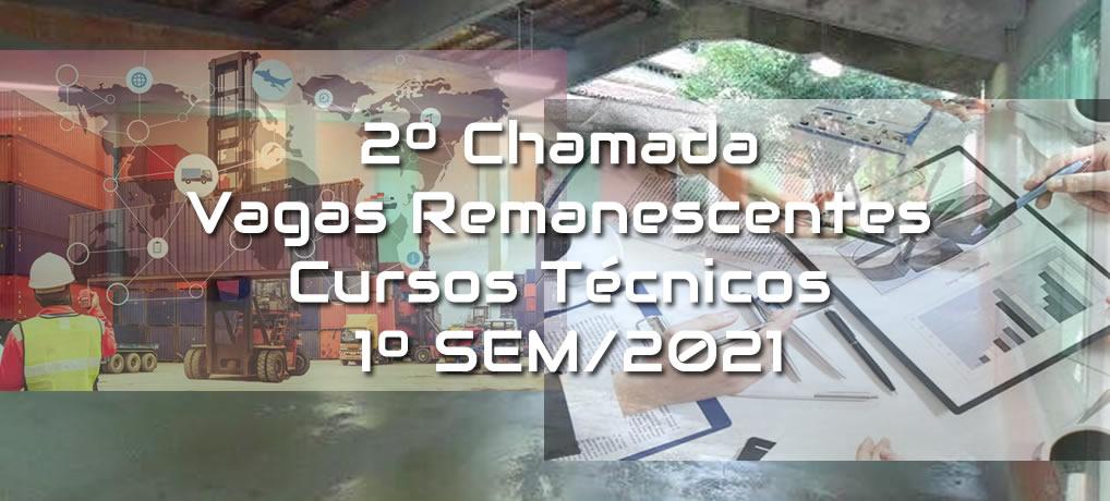 2º Chamada para Vagas Remanescentes – 1ºSem/2021(VAGAS ESGOTADAS)